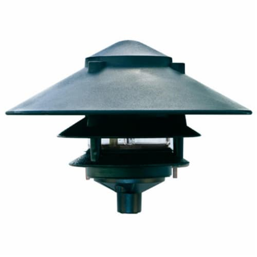 Dabmar Lighting D5300-G Cast Aluminum Three Tier Pagoda Light, Green Perspective: front