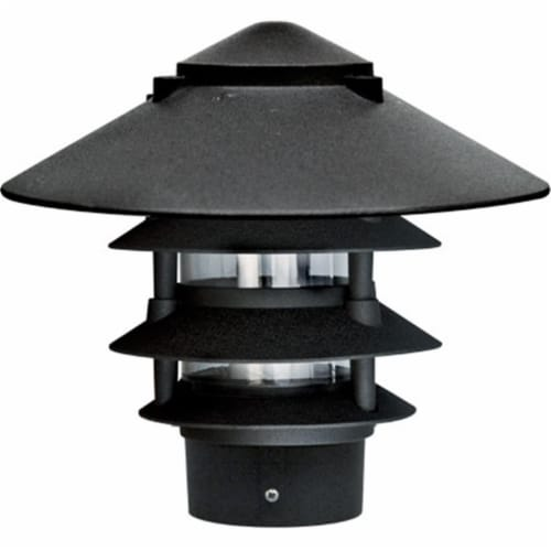 Dabmar Lighting D5400-B Cast Aluminum Four Tier Pagoda Light with 3 In. Base, Black Perspective: front