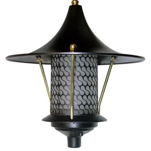 Dabmar Lighting D8000-B Cast Aluminum Flair Top Pagoda Light, Black Perspective: front