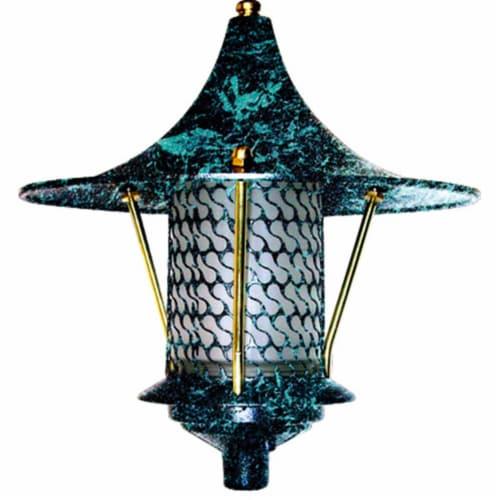 Dabmar Lighting D8000-VG Cast Aluminum Flair Top Pagoda Light, Verde Green Perspective: front
