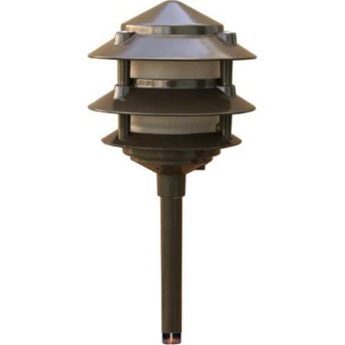 Dabmar Lighting LV-LED102-BZ Cast Aluminum Three Tier LED Pagoda Light, Bronze - 13.33 x 5.85 Perspective: front