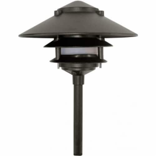 Dabmar Lighting LV-LED103-B 2.5W & 12V JC-LED Large Top 3 Tier Pagoda Fixture with 0.5 in. Ba Perspective: front