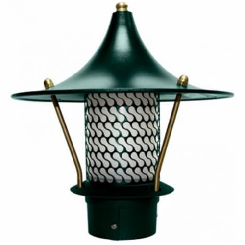 Dabmar Lighting LV-LED106B-G 2.5W & 12V JC-LED Flair Top Pagoda with 3 in. NPT Base - Green Perspective: front