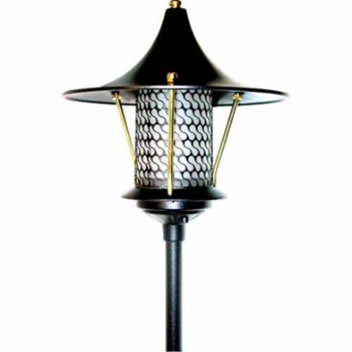 Dabmar Lighting LV-LED106A-B 2.5W & 12V JC-LED Flair Top Pagoda with 0.5 in. NPT Base - Black Perspective: front