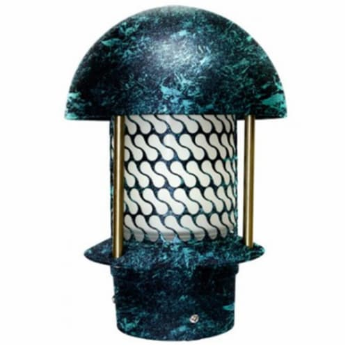 Dabmar Lighting LV-LED107B-VG 2.5W & 12V JC-LED Round Top Pagoda with 3 in. NPT Base - Verde Perspective: front