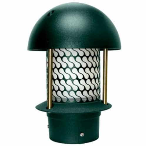 Dabmar Lighting LV-LED107B-G 2.5W & 12V JC-LED Round Top Pagoda with 3 in. NPT Base - Green Perspective: front