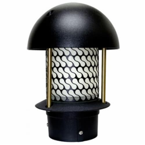 Dabmar Lighting LV-LED107B-B 2.5W & 12V JC-LED Round Top Pagoda with 3 in. NPT Base - Black Perspective: front