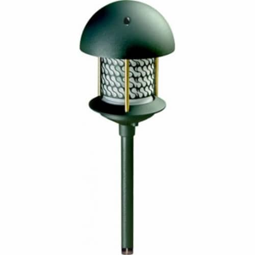 Dabmar Lighting LV-LED107A-G 2.5W & 12V JC-LED Round Top Pagoda with 0.5 in. NPT Base - Green Perspective: front