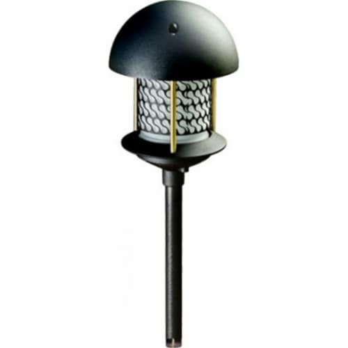 Dabmar Lighting LV-LED107A-B 2.5W & 12V JC-LED Round Top Pagoda with 0.5 in. NPT Base - Black Perspective: front