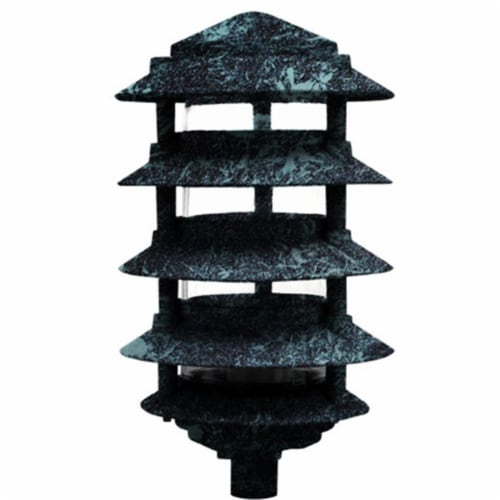 Dabmar Lighting D5550-VG 40W 120V Cast Aluminum Five Tier Pagoda Light with 0.50 in. Base, Ve Perspective: front