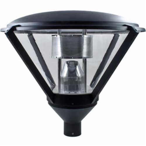 Dabmar Lighting GM500-B 60 watts Incandenscent Type 120 V Post Top Light Fixture, Black Perspective: front