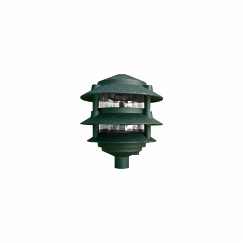 Dabmar Lighting P-D5000-6C-G 3-Tier Pagoda Light, Green Perspective: front