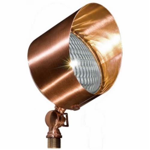 Dabmar Lighting LV30-LED9-CP 9W & 12V LED PAR36 Solid Brass Spot Light - Copper Perspective: front