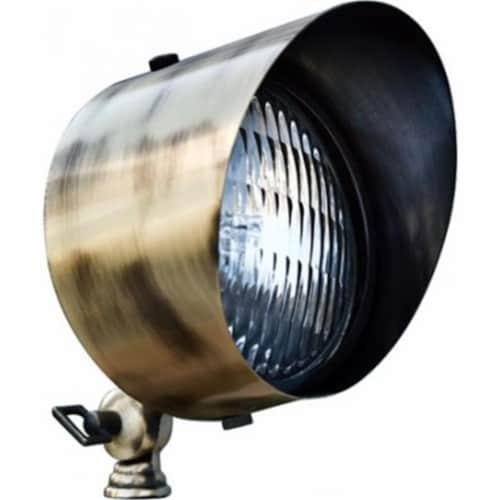 Dabmar Lighting LV30-LED9-ABS 9W & 12V LED PAR36 Solid Brass Spot Light - Antique Brass Perspective: front