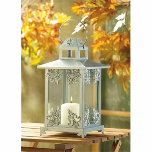 Zingz & Thingz 39891 Frosted Vines Candle Lantern Perspective: front