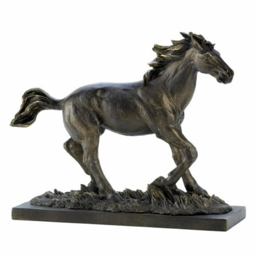 Home Locomotion 10014583 Wild Stallion Statue Perspective: front