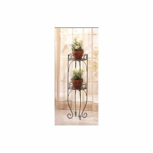 Zingz & Thingz 28232 Decorative Bi-Level Plant Stand Perspective: front