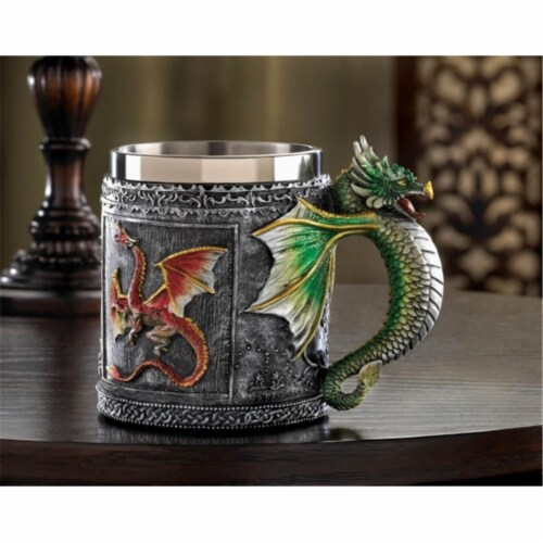 Zingz & Thingz 12694 Medieval Dragon Mug Perspective: front