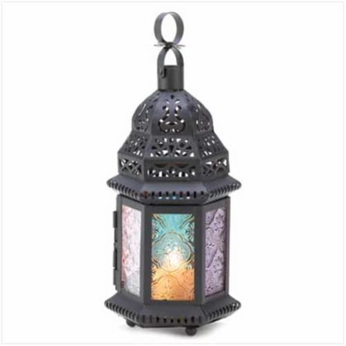 Home Locomotion 10014119 Magic Rainbow Candle Lantern Perspective: front