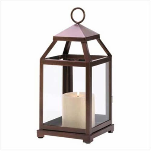 Home Locomotion 10014126 Bronze Contemporary Lantern Perspective: front