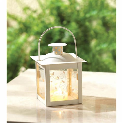 Zingz & Thingz 37440 Small Ivory Vine Lantern Perspective: front