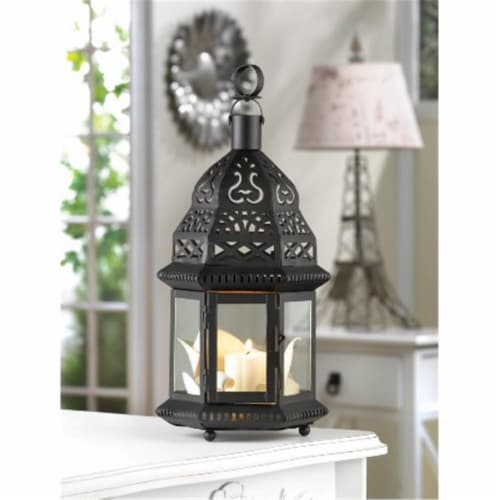 Zingz & Thingz 57071084 Moroccan Birdcage Candle Lantern Perspective: front