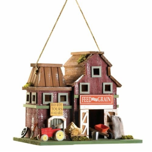 Home Locomotion Farmstead Wood Barnyard Birdhouse Perspective: front