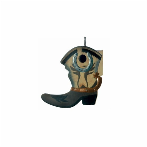 Home Locomotion Western Boot Birdhouse Perspective: front