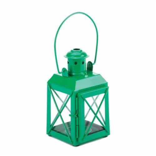 Home Locomotion  Mini Crisscross Candle Lamp Green Perspective: front