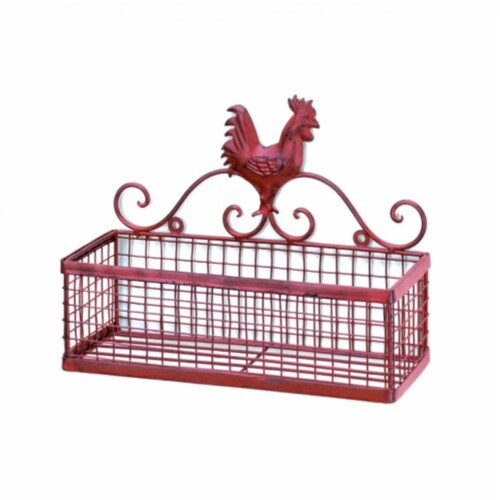 Home Locomotion  Rooster Single Wall Basket Perspective: front