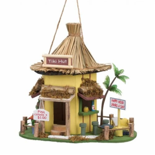 Home Locomotion  Tiki Wood Birdhouse Perspective: front