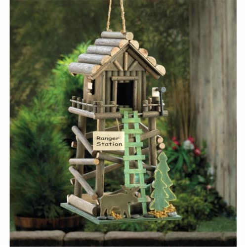 Zingz & Thingz Ranger Station Birdhouse Perspective: front