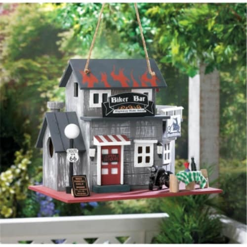 Zingz & Thingz Biker Bar Birdhouse Perspective: front