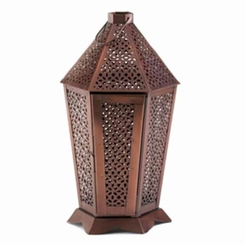 Home Decor Byzantine Pewter Lantern Perspective: front