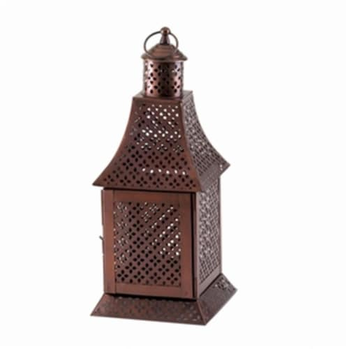Home Decor Labyrinth Pewter Lantern Perspective: front