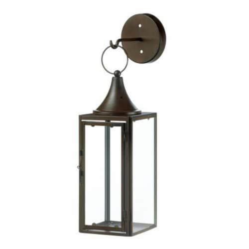 Home Locomotion 849179027407 Gatehouse Hanging Candle Lantern Perspective: front