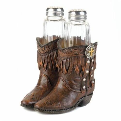 Accent Plus 849179027643 Cowboy Boots Shaker Set Perspective: front