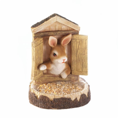 BUNNY WALL HANGING BIRD FEEDER Perspective: front