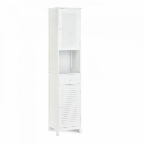Accent Plus 10018188 Nantucket Tall Cabinet Perspective: front