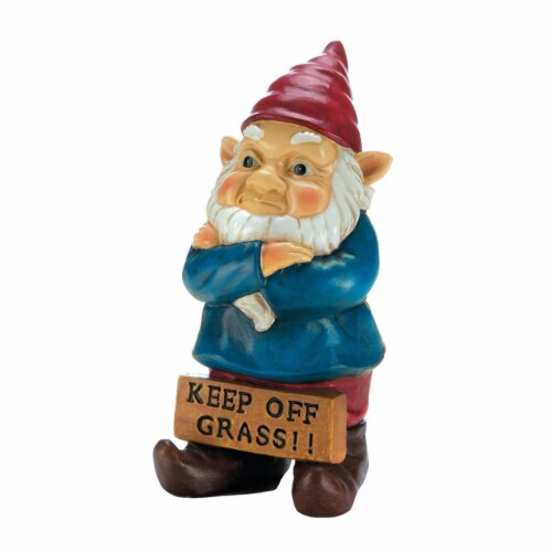Summerfield Terrace 10018337 Keep Off Grass Grumpy Gnome Perspective: front