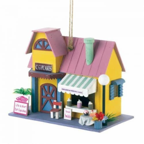 Songbird Valley Cupcake Bakery Birdhouse Perspective: front
