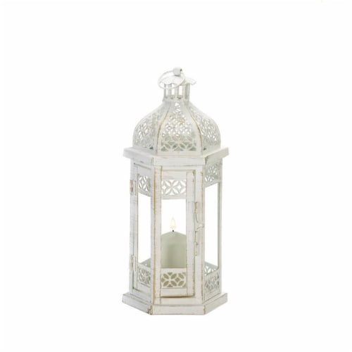 Gallery of Light 10018607 Antique-Style Floral Lantern Perspective: front