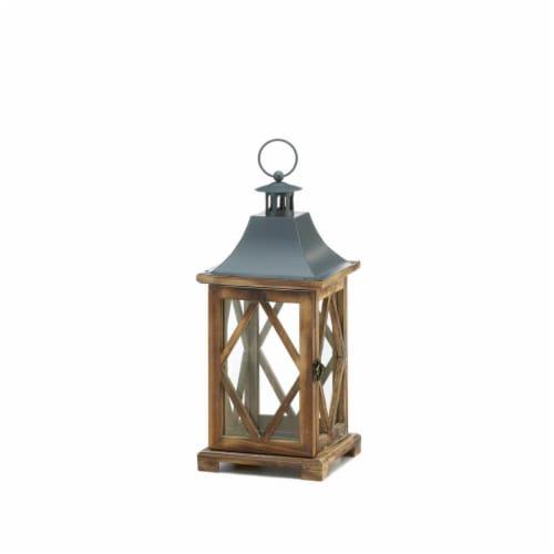 Gallery of Light 10018827 Wooden Diamond Lattice Lantern Perspective: front