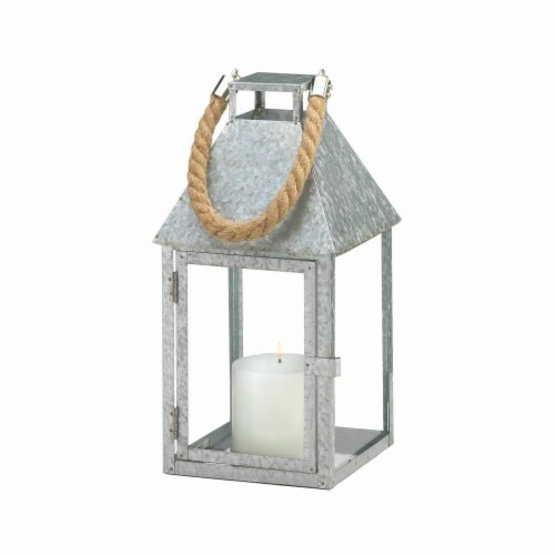 Gallery of Light 10018828 Galvanized Farm-Style Lantern - Large Perspective: front