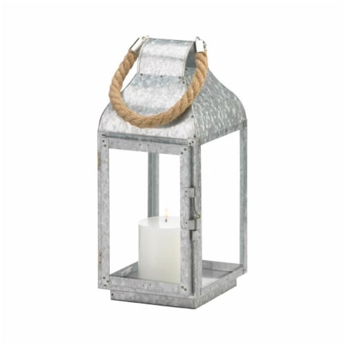 Gallery of Light 10018829 Galvanized Farmhouse Lantern Perspective: front