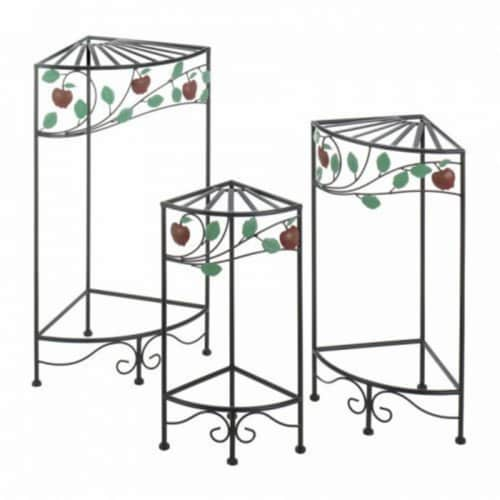 Summerfield Terrace 10018971 Country Apple Plant Stand Set Perspective: front