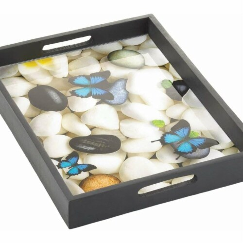 Accent Plus 10018951 Butterfly Serving Tray Perspective: front