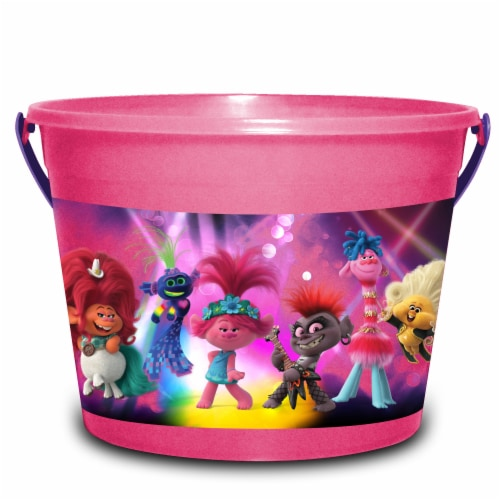 PTI Group Trolls LED Round Plastic Bucket Perspective: front