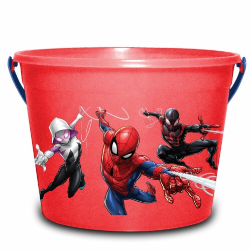 PTI Group Spider Man LED Round Plastic Bucket Perspective: front