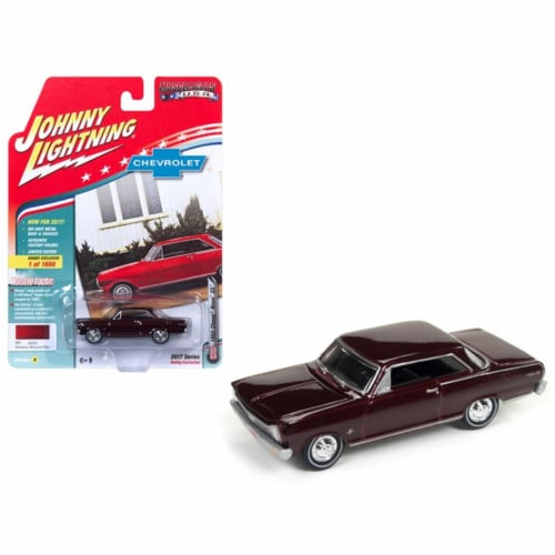 Johnny Lightning JLMC010A 1965 Chevrolet Nova SS Madeira Maroon Hobby Exclusive Muscle Cars U Perspective: front